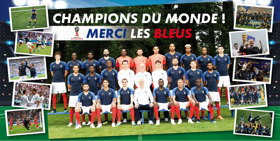 CHAMPIONS DU MONDE - BRAVO LES BLEUS