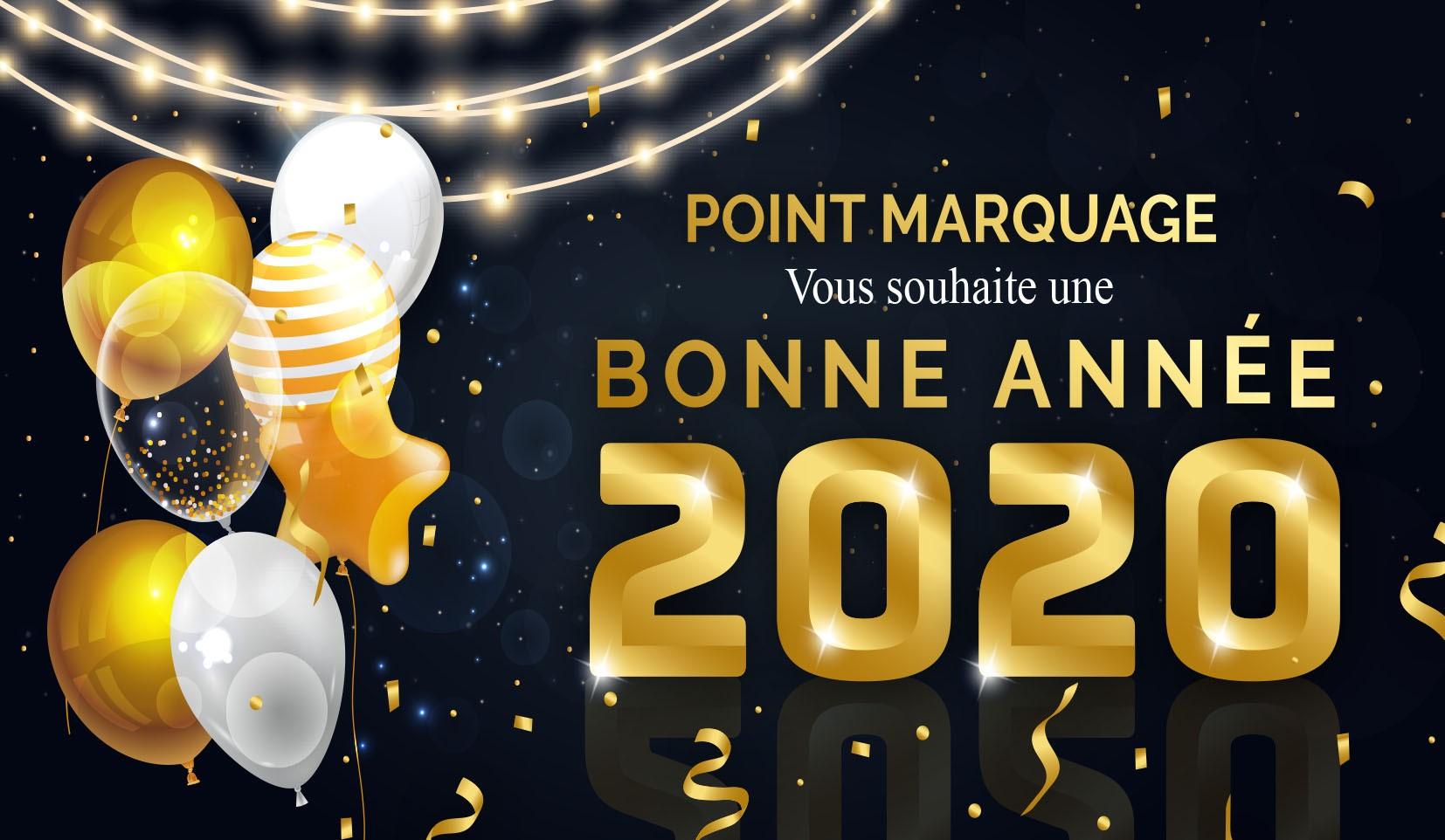 Toute l'équipe POINT MARQUAGE vous souhaite une Bonne Année 2020